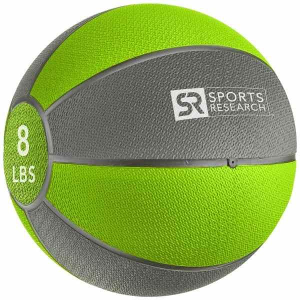Sports Research Medicine Ball 8 lb - Green