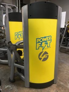 Power Fit Gym shrouds with company logo