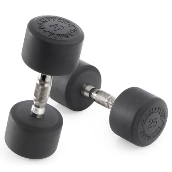 5 - 50 lb. Hampton DURA-PRO Urethane Dumbbell Set