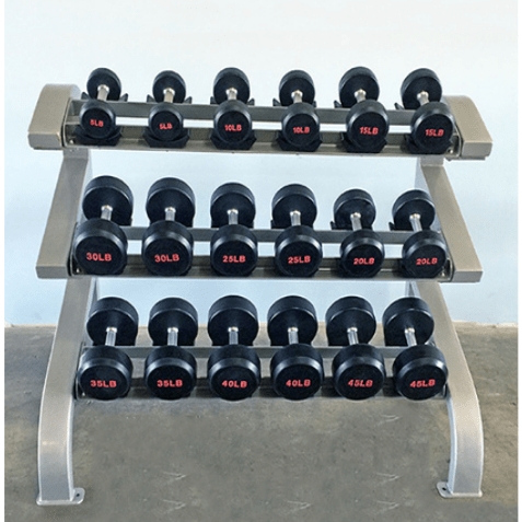 Modular Three Tier 9 Pairs Dumbbell Rack