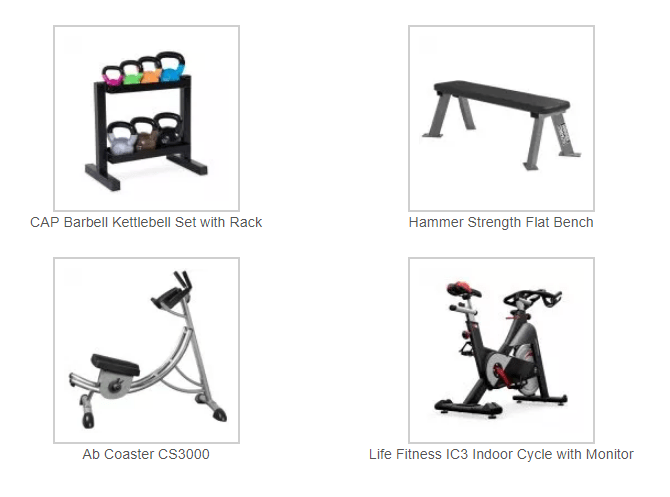 Home Gym Package C $1,899
