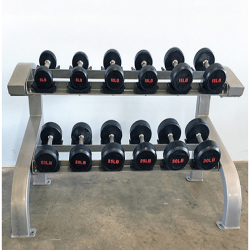 Modular-Two-Tier-Dumbbell-Rack-6-Pairs-MDR-2T6