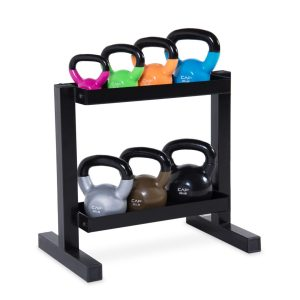 CAP Barbell Kettlebell Set with Rack