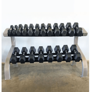 Modular Two Tier Hex Dumbbell Rack (Long)