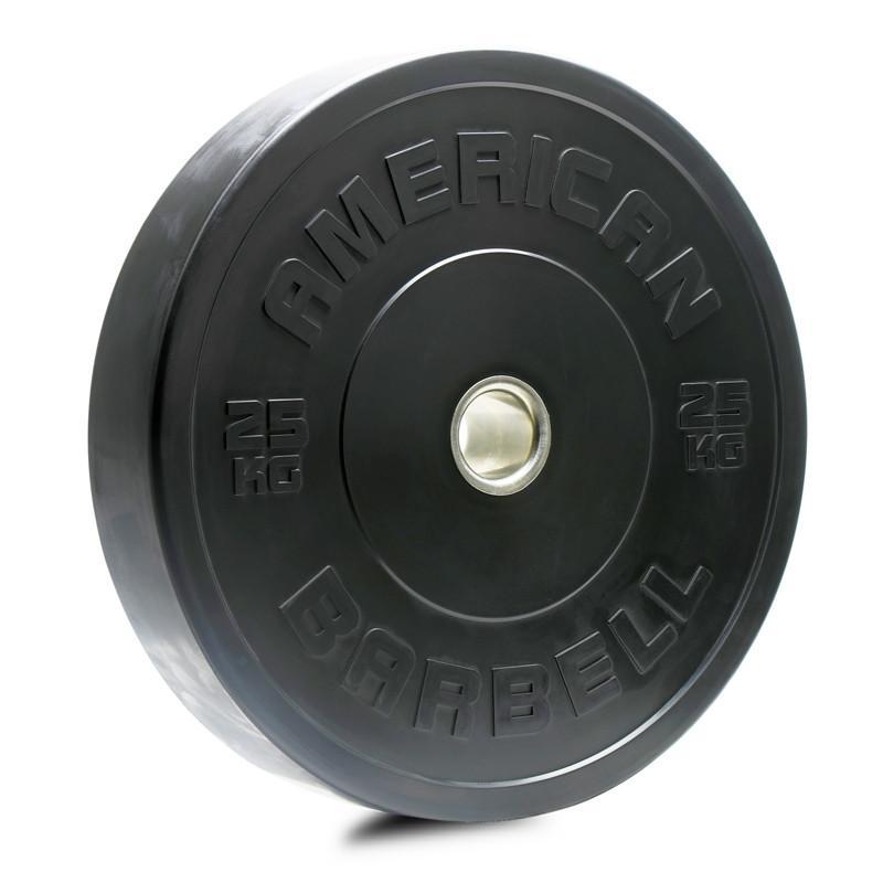 American Barbell Black KG Sports Bumper Plates