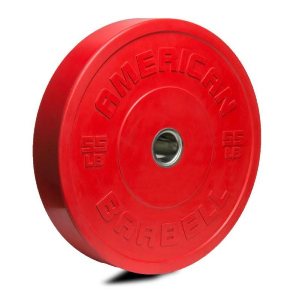 American Barbell Color LB Sport Bumper Plates 55 lbs