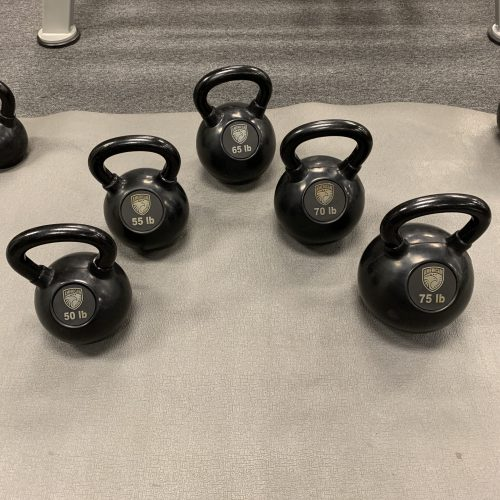 American Barbell Rubber Coated Cast Iron Kettlebells