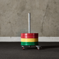 American Barbell Upright Rolling Bumper Storage