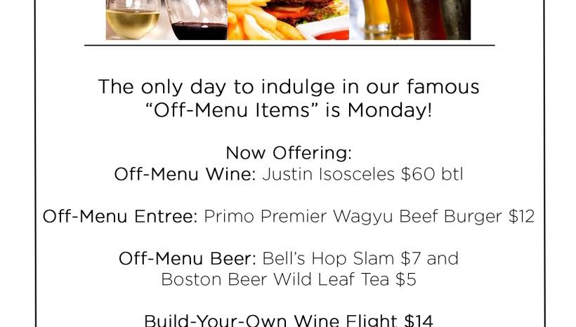 Primo- Monday Specials