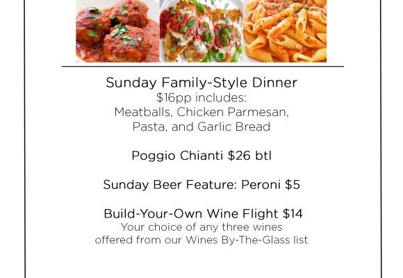 Primo Sunday Specials