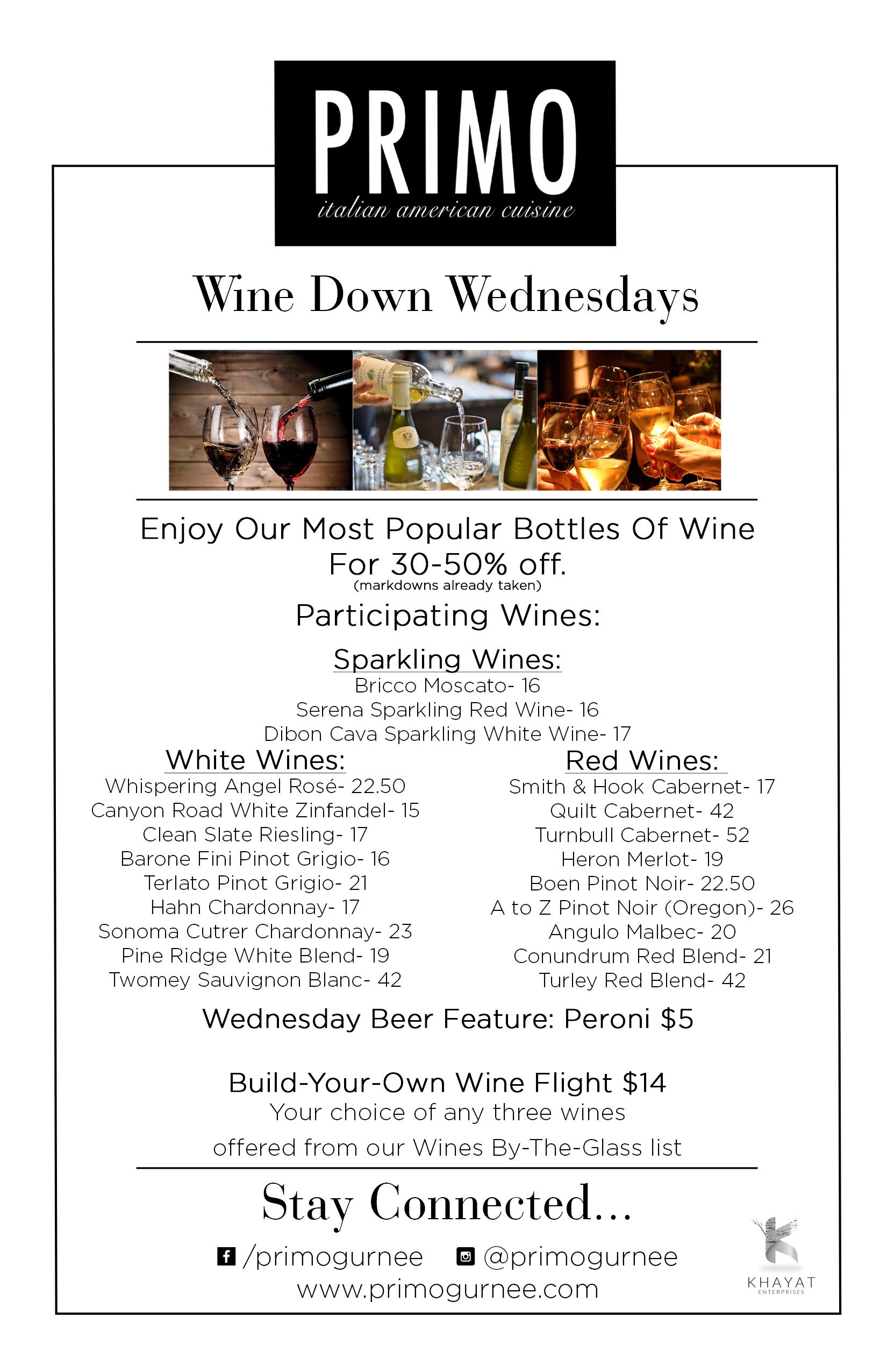Primo Wednesday Specials