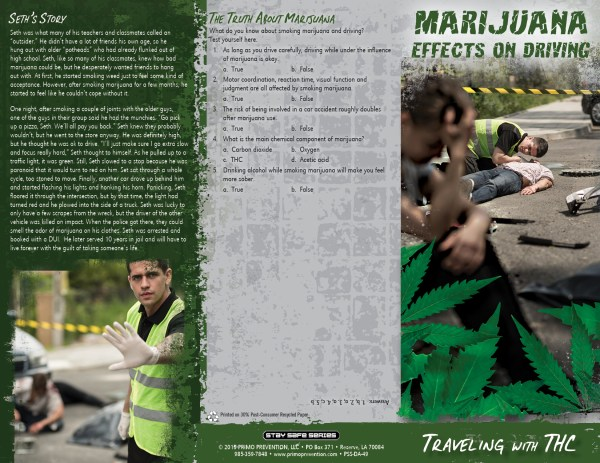 Marijuana Effects Driving Pamphlet - Primo Prevention