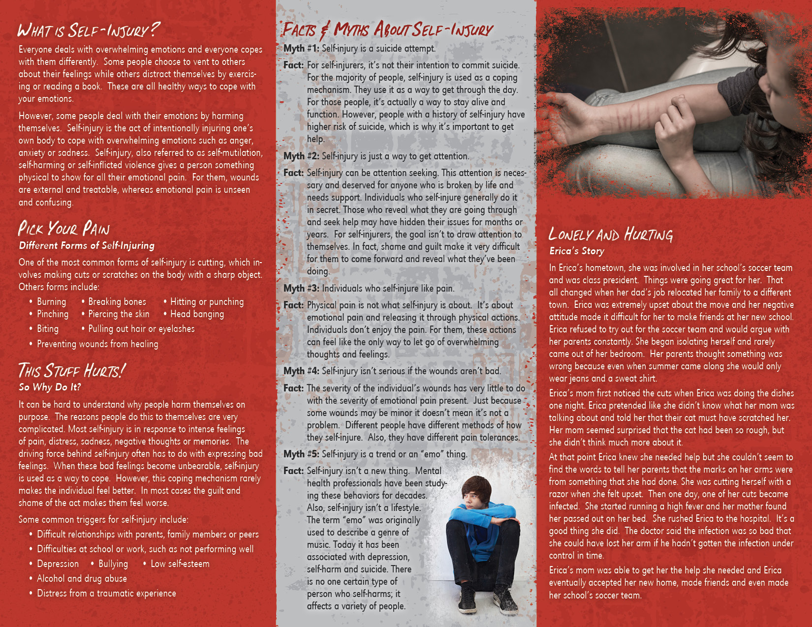 Self Injury Painful Reminders Pamphlet