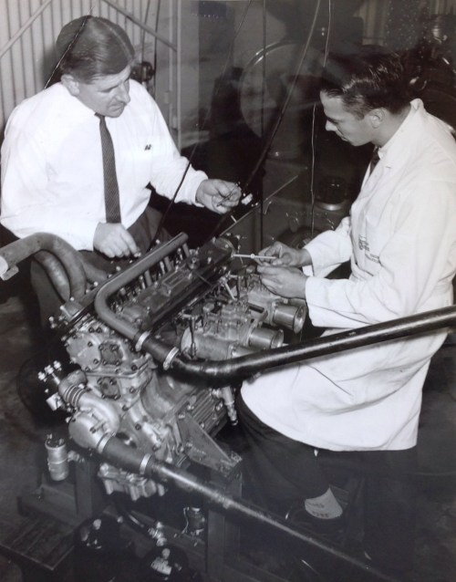 small resolution of frank hallam and michael gasking testing weber carb jets on a coventry climax fpf engine at