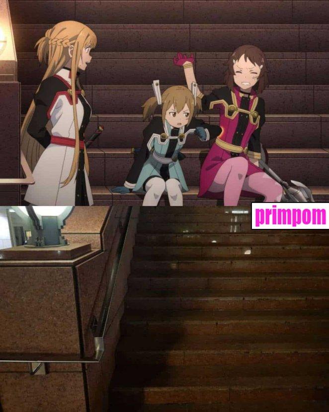 lugares en el anime y en la vida real