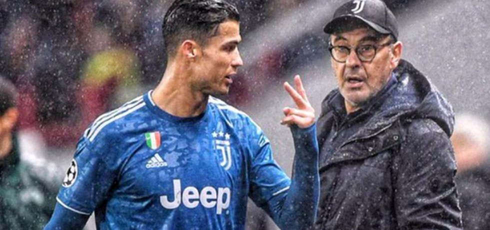 Cristiano Ronaldo și Maurizio Sarri. Sursă foto: goal.com