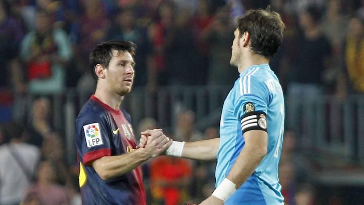 Lionel Messi și Iker Casillas. Sursă foto: goal.com