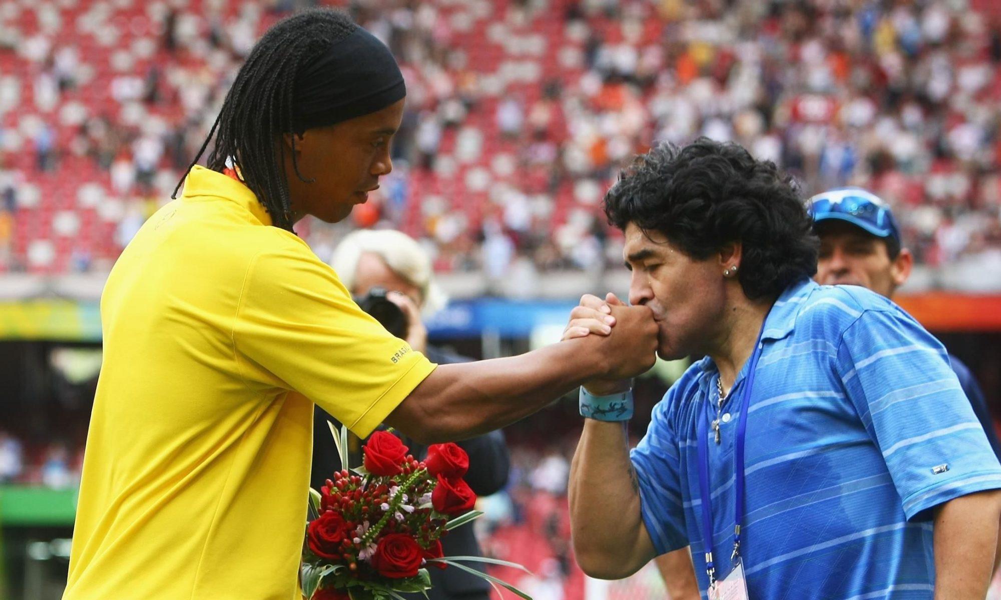 Ziua în care Maradona l-a făcut pe Ronaldinho să plângă. Sursă foto: eurosport.ro