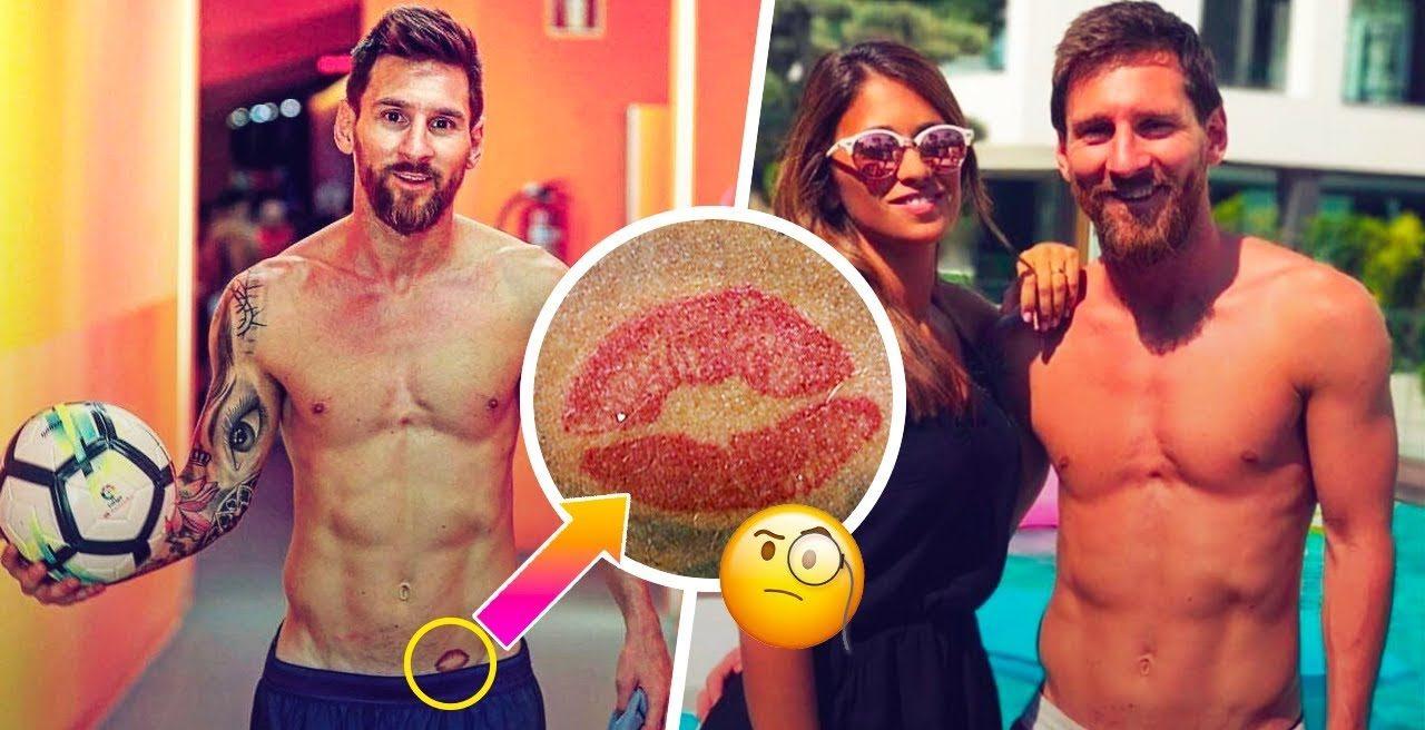 De ce Messi are un tatuaj cu buze pe șold. Sursă foto: Youtube