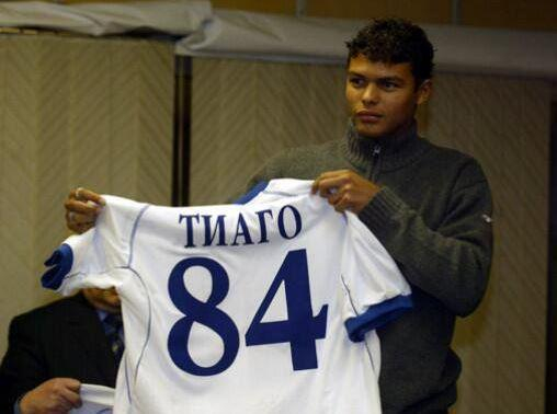Thiago Silva la Dinamo Moscova. Sursă foto: goal.com