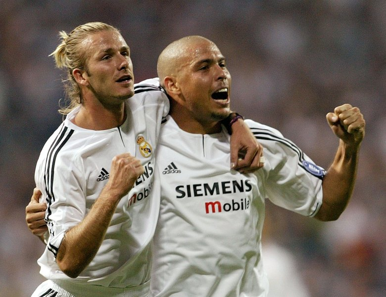 David Beckham și Ronaldo. Sursă foto: goal.com
