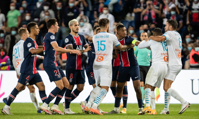 Bătaia de la PSG - Marseille. Sursă foto: goal.com