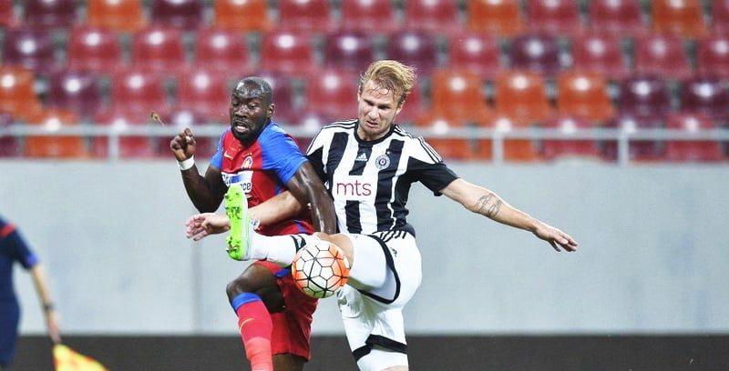 Ultimul meci jucat de FCSB împotriva unei echipe din Serbia. Sursă foto: uefa.com