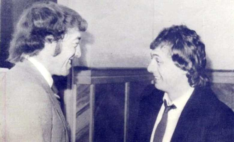 Ilie Balaci și Nicolae Dobrin. Sursă foto: gsp.ro