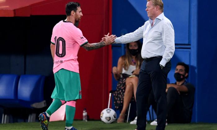Ronald Koeman și Lionel Messi. Sursă foto: goal.com