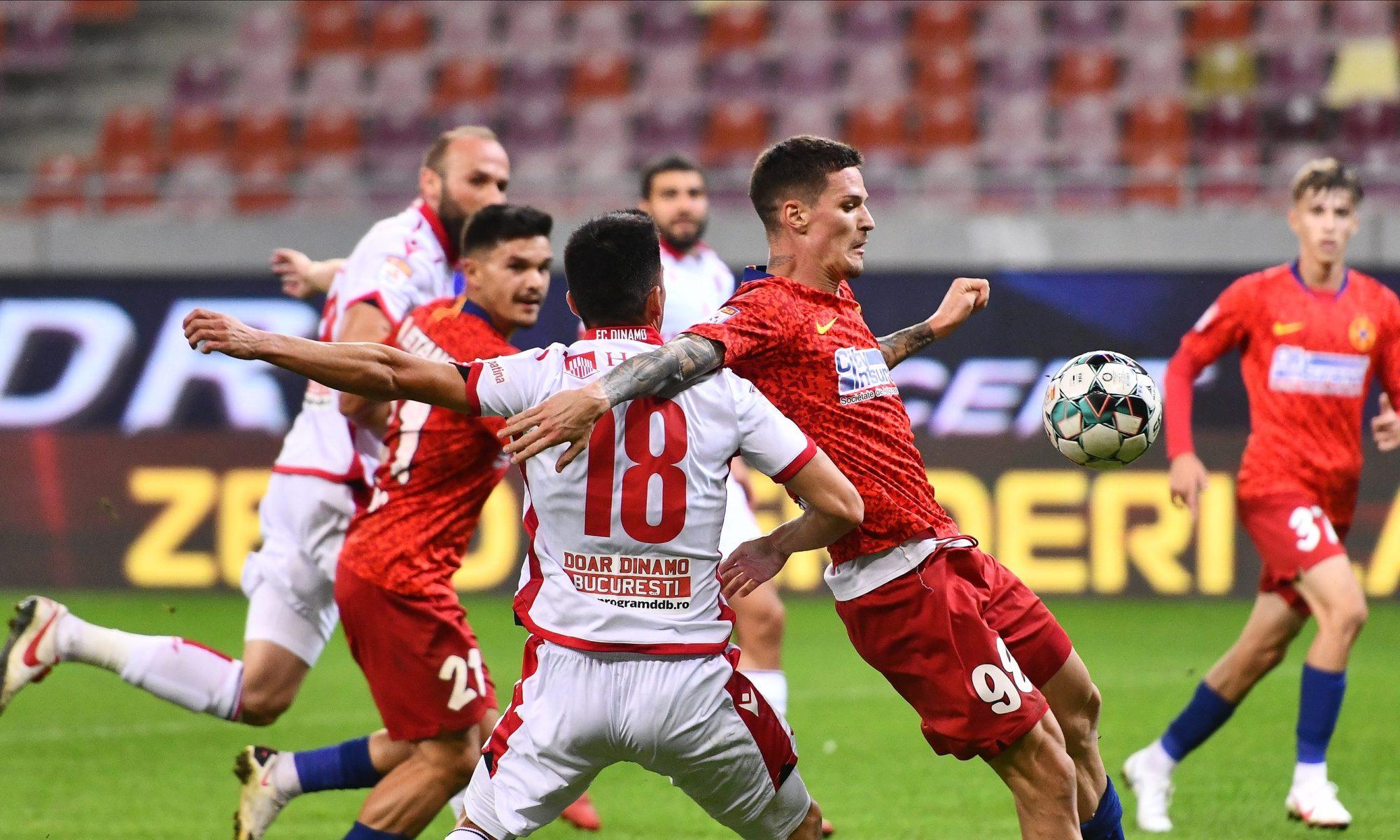 Dennis Man lămurește faza penalty-ului de la FCSB - Dinamo. Sursă foto: sportpictures.eu