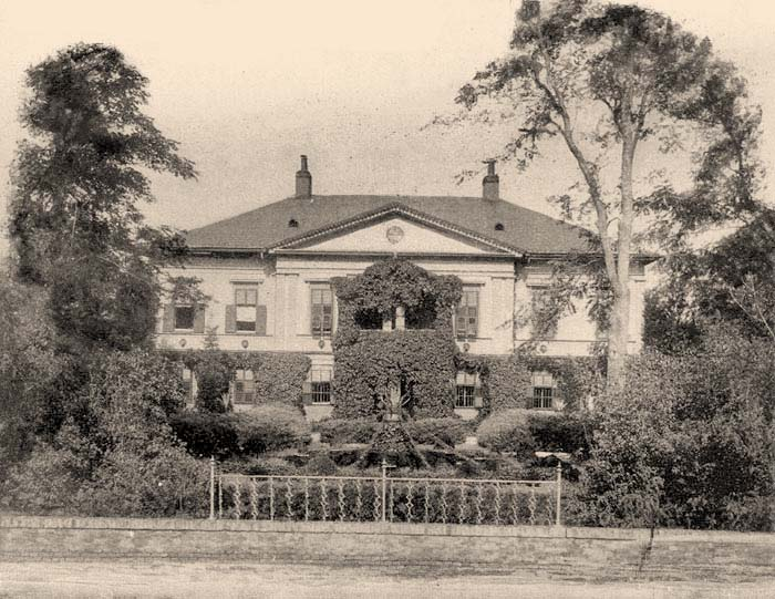 Conacul Gudenus din Gad la începutul secolului XX