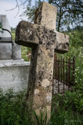 Old cross at the grave of a priest whom ministered the wooden church of Crivina de Sus