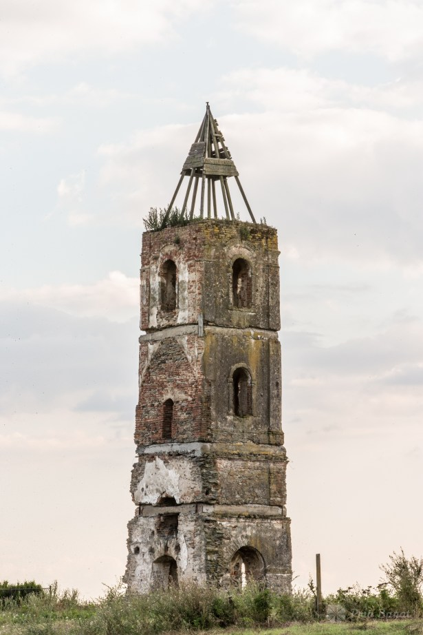 The tower of the former church of Cacova village