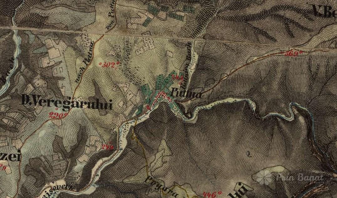Puttna, pe harta din 1819-1869