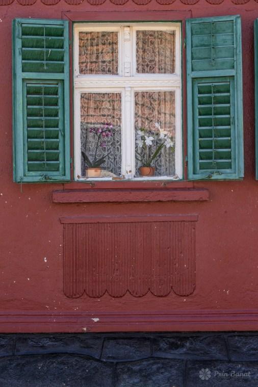Faţada unei case din Caraşova