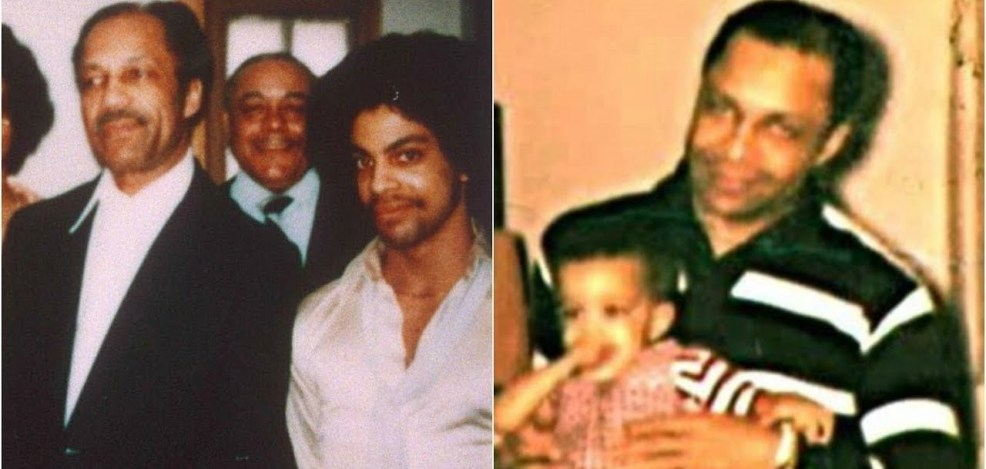 Prince and his father John L. Nelson
