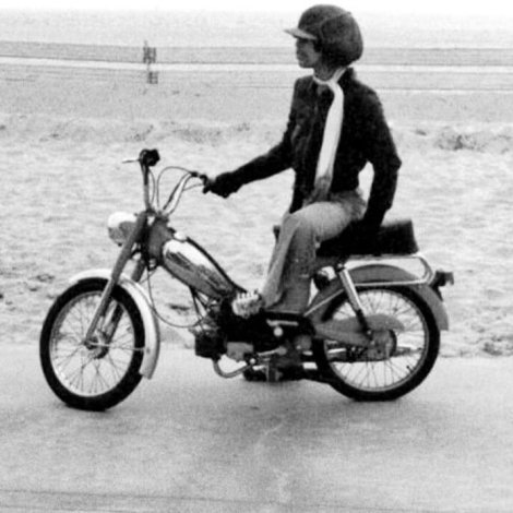 Prince & Motorbike with Hat & Scarf on California Beach Princefan046