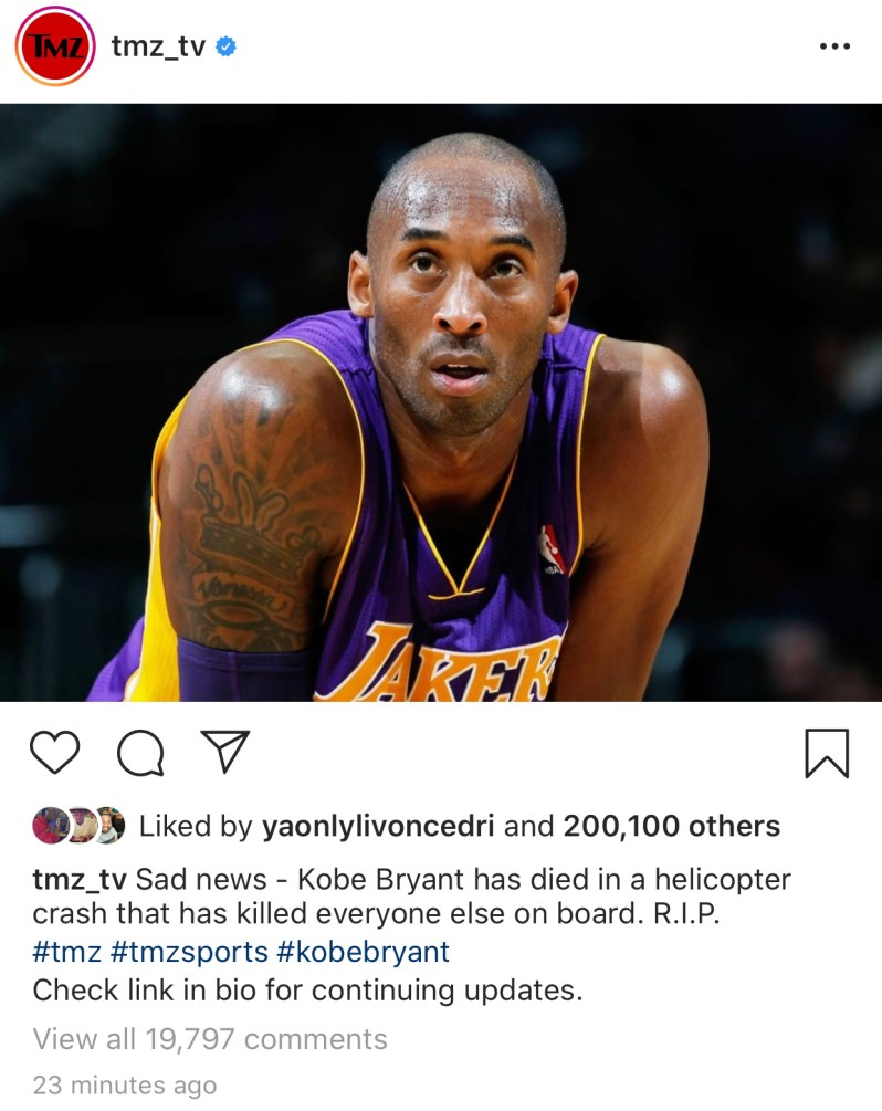 Kobe Bryant Killed in helicopter