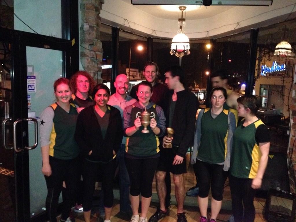 Winter 2015 B grade champions - Royal Tennenbaums take 2