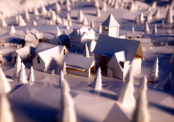 模型の町並み
