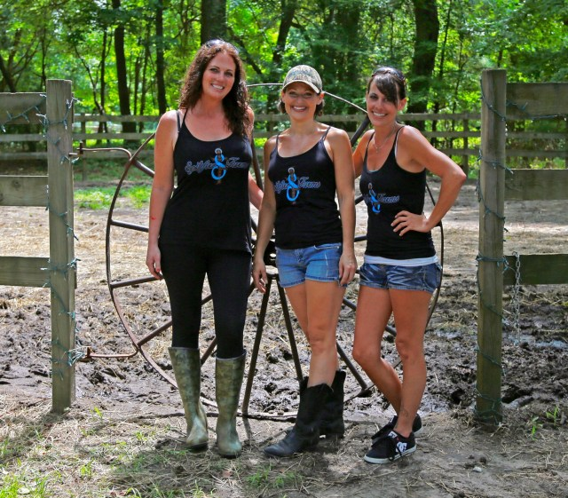 Joy Losciale, Danielle Losciale Corbett and Shelley King Brezler of Spitfire Farms hope to develop the farm into a venue for weddings, fundraisers and youth development. [Randall Pritchett/Princess Anne Independent News]