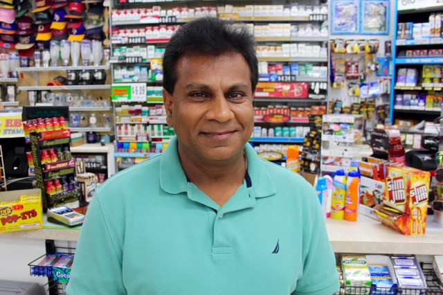 Pradip Patel, owner of Red Bartn in Pungo and a number of other businesses, donated Norfolk Tides tickets to local youth baseball players and their families. [John-Henry Doucette/The Princess Anne Independent News]