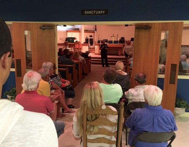 Nearly 200 people attended the Monday, Sept. 21, meeting of the Sandbridge Beach Civic League, which included a discussion of event homes in the community. [The Princess Anne Independent News]