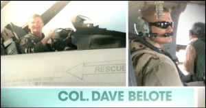 Screen capture of a campaign commercial for Dave Belote.