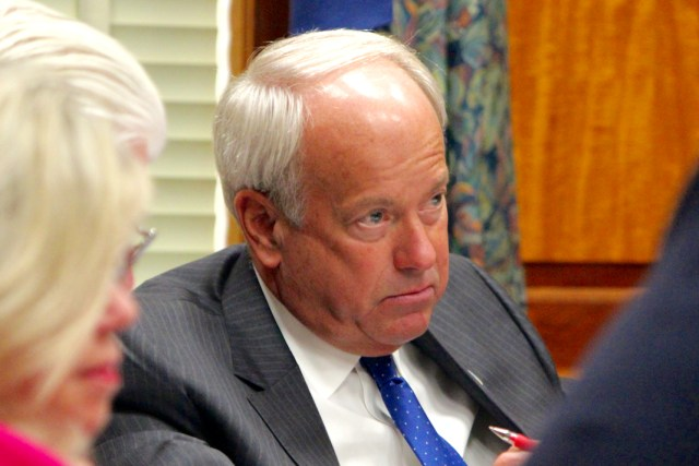 Mayor Will Sessoms is seen during a city council informal session earlier this year. [File/The Princess Anne Independent News]
