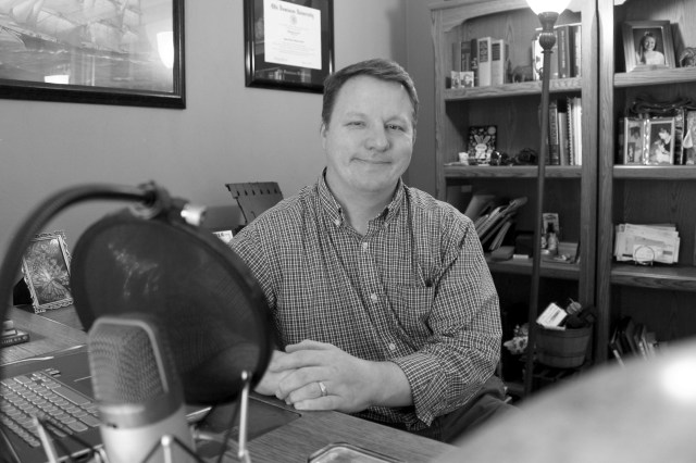 J.R. Hoeft is the founder and — once again  —  editor-in-chief of Bearing Drift. [John-Henry Doucette/The Princess Anne Independent News]