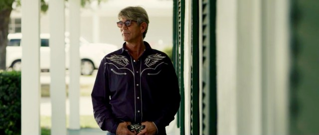 Actor Eric Roberts, seen here on set near the Oceanfront last year, is one of the stars of the independent film Eyes of the Roshi. [Light Age Films/Courtesy]