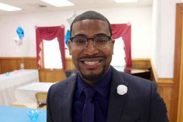 The Rev. Rashad Cartwright celebrated his first service as pastor at Little Piney Grove Baptist Church in April. [John-Henry Doucette/The Princess Anne Independent News]