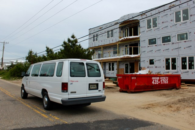 Members of the city beaches and waterways advisory commission are shown while on a van tour of the Sandbridge community. [John-Henry Doucette/The Princess Anne Independent News]