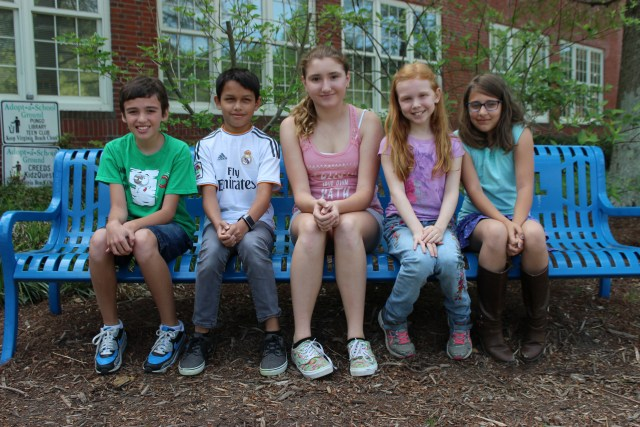 Creeds Elementary School students and poets Keegan Anderson, Jacob Wandling, Autumn Gregory, Zoey Walker, and Vivienne Doucette were winners in a poetry conference sponsored by The Independent News this spring. [The Independent News]